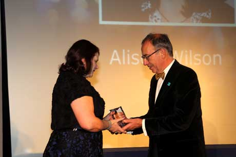 Alison Wilson collects the